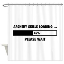Archery Skills Loading Shower Curtain