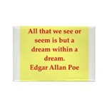 edgar allan poe quote Rectangle Magnet (100 pack)