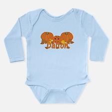 Halloween Pumpkin Dalton Long Sleeve Infant Bodysu