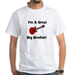 Great Big Brother (guitar) White T-Shirt