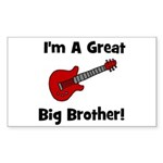 Great Big Brother (guitar) Rectangle Sticker