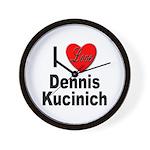 I Love Dennis Kucinich Wall Clock