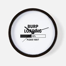 Burp Loading Wall Clock