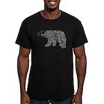 Celtic Polar Bear Men's Fitted T-Shirt (dark)