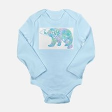 Celtic Polar Bear Long Sleeve Infant Bodysuit