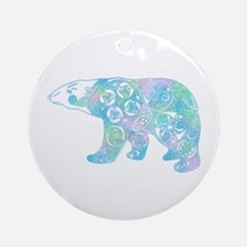 Celtic Polar Bear Ornament (Round)