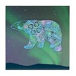 Celtic Polar Bear Tile Coaster
