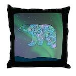 Celtic Polar Bear Throw Pillow