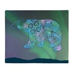 Celtic Polar Bear Throw Blanket