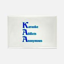 Karaoke Addicts Anonymous Rectangle Magnet