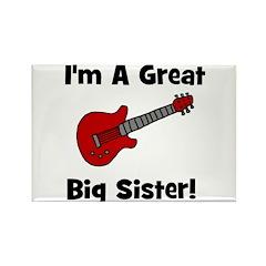 Great Big Sister (guitar) Rectangle Magnet