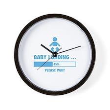 Baby Loading Wall Clock