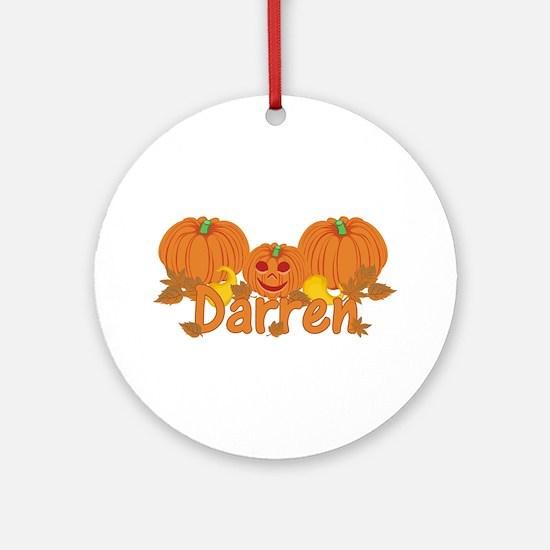 Halloween Pumpkin Darren Ornament (Round)