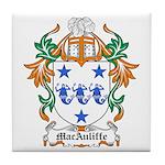 MacAuliffe Coat of Arms Tile Coaster