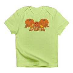 Halloween Pumpkin David Infant T-Shirt
