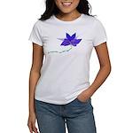 Purple Blue Flying Flower Women's T-Shirt