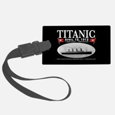 Titanic Ghost Ship (black) Luggage Tag w/ID