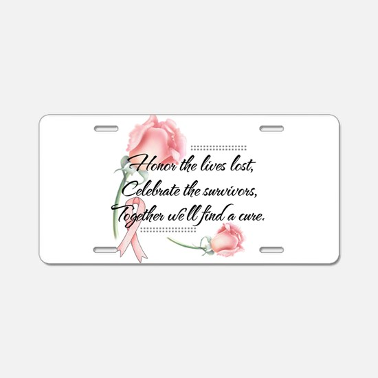 Honor the lives lost.png Aluminum License Plate