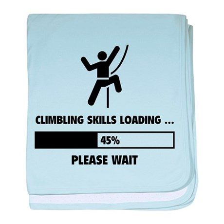 Climbing Skills Loading baby blanket