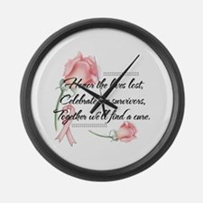 Honor the lives lost.png Large Wall Clock