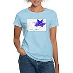 Purple Blue Flying Flower Women's Light T-Shirt