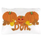 Halloween Pumpkin Don Pillow Case