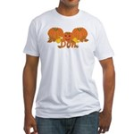 Halloween Pumpkin Don Fitted T-Shirt