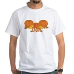 Halloween Pumpkin Don White T-Shirt