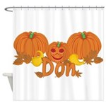 Halloween Pumpkin Don Shower Curtain