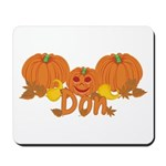 Halloween Pumpkin Don Mousepad