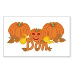 Halloween Pumpkin Don Sticker (Rectangle)