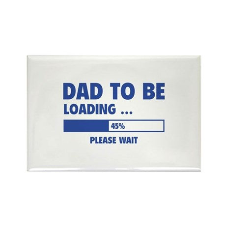 Dad To Be Loading Rectangle Magnet