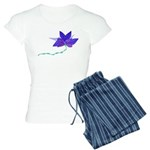 Purple Blue Flying Flower Women's Light Pajamas