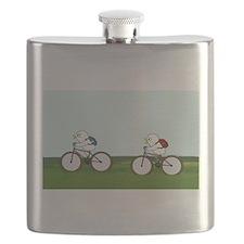 Biking Through the Prairie Flask