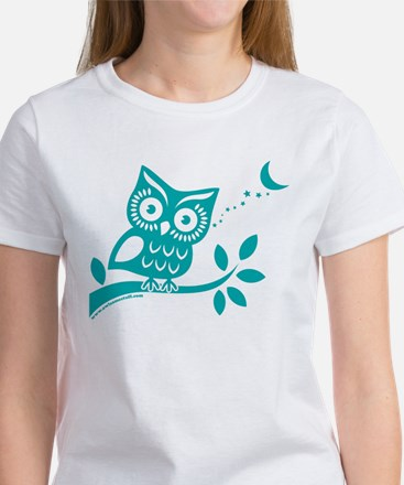 Turquoise Owlsome Owl T-Shirt
