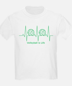 Kids volleyball t shirts volleyball shirts for kids for Life is good volleyball t shirt