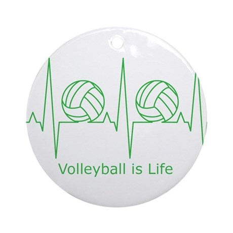 Volleyball is Life Ornament (Round) - 22.3KB