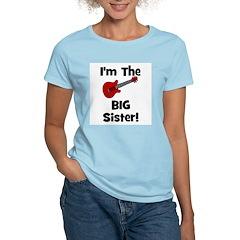 Im the Big Sister (guitar) Women's Pink T-Shirt