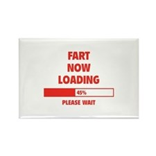 Fart Now Loading Rectangle Magnet