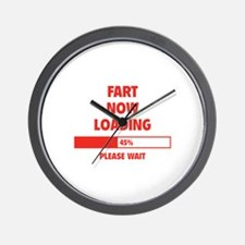 Fart Now Loading Wall Clock