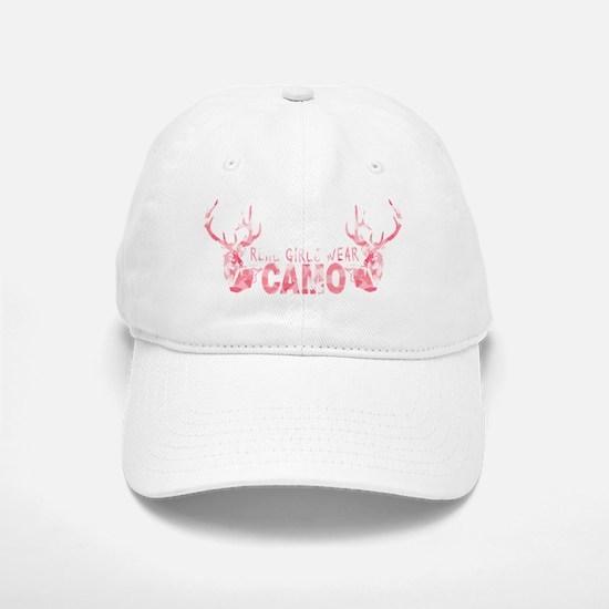 REAL GIRLS WEAR CAMO Baseball Baseball Cap