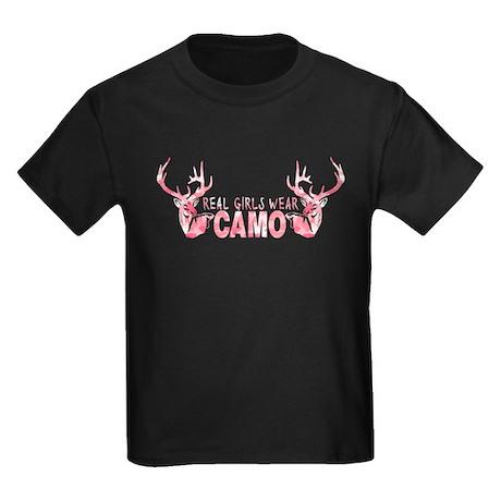 REAL GIRLS WEAR CAMO Kids Dark T-Shirt