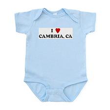 I Love CAMBRIA Infant Creeper