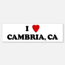 I Love CAMBRIA Bumper Bumper Bumper Sticker