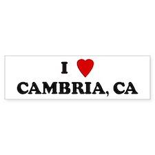 I Love CAMBRIA Bumper Bumper Sticker