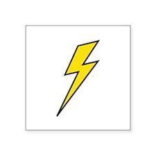 "Lightning Square Sticker 3"" x 3"""