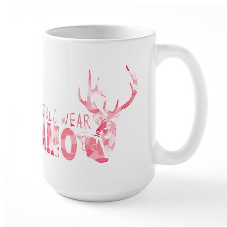 REAL GIRLS WEAR CAMO Large Mug