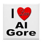 I Love Al Gore Tile Coaster
