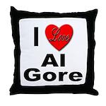 I Love Al Gore Throw Pillow