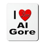 I Love Al Gore Mousepad